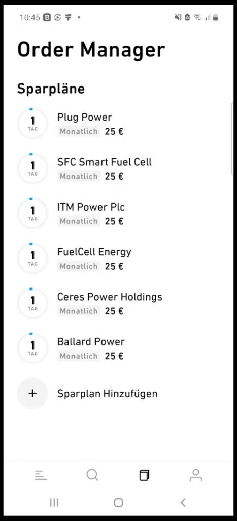 Übersicht Sparpläne Wasserstoff ETF